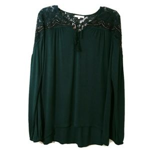 Maurices NWT long sleeve lace top M